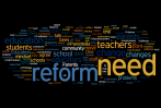 What should be the first two problems addressed in order to begin educational reform?